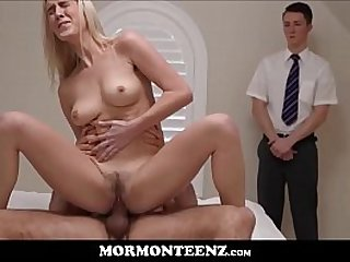 Mormon Teen Squirting Orgasms While Fucked By Church President In Front Of Boy