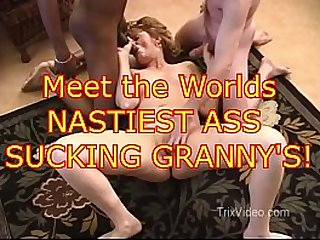 Worlds NASTIEST ASS SUCKING Grannys