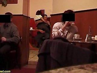 brutal anal sex in a public coffee shop
