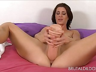 Cici Rhodes punishes her pink and ass with brutal dildos