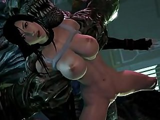 Tifa Lockhart and Monster sex