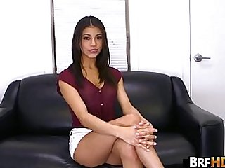 Teen latina Veronica Rodriguez first time in front of the camera getting