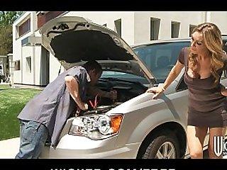 Stunning blonde MILF Tanya Tate fucks her car mechanic