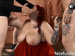 new Fat slut Curvy Quinn degraded hard at Face Fucking