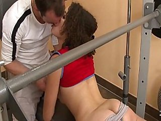 Squirt french arab fucked hard with cum mouth at gym