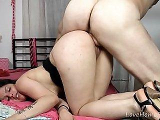 Butt Fucking A Pretty Babe Hard