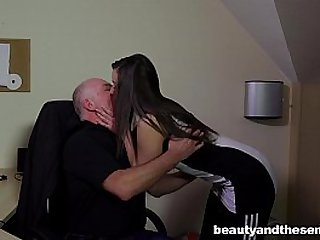 Teen Carla gets spotted and fucked and facialied in the office