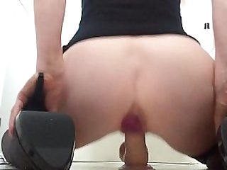 Squirting over my dildo as I ride it from behind balls deep