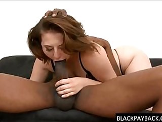 Cute cave dweller throat drilled pounded hard by a BBC
