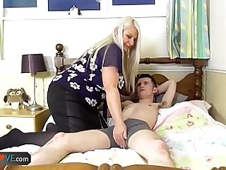 AgedLovE Old Busty Blonde Grannies Lacey Hardcore