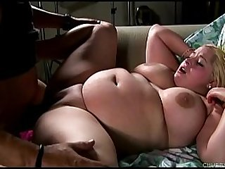 Beautiful tits blonde BBW banged and blasted with cum