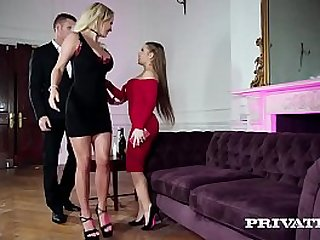 Elegant Sluts in Anal Threesome