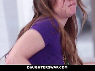DaughterSwap Dutch Teen Fucked After Mardis Gras