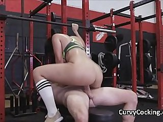PAWG hottie pounded at the gym after workout