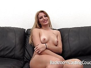Tall Blonde Anal and Creampie Casting
