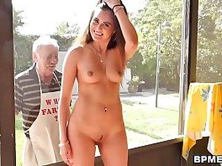 Teen Jeleana Marie Sucks Fucks Old Men