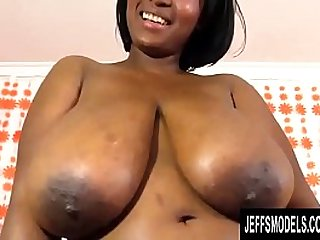 Big Black Goddess Marie Leone Stimulates Her Juicy Pussy with Sex Toys