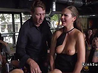 Hot ass blonde Milf got anal in public