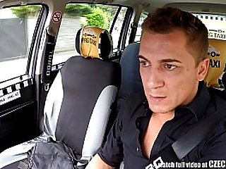 Czech Blonde Rides Taxi Driver in the Backseat