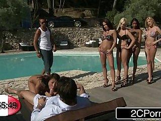 French BJ Roulette Bibi Noel, Blanche, Katia De Lys, Sharon Lee Shannya Tweeks