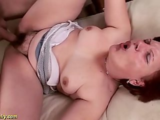 hairy german mature gets fucked