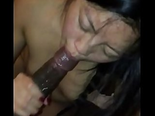 Asian sucks black huge cock, interracial BBC