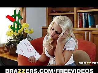 Slutty big tit blonde Sammie Spades fucks hard cock for cash