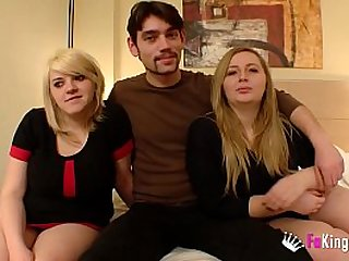 Blonde cousins introducing the guy they started having sex with