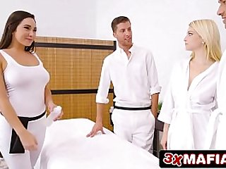 Super Hot Masseuse Karlee Grey Fucking Lucky Dude While Wife Is Sleeping