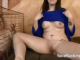 new Slut wife takes pet husband to watch her get destroyed hard