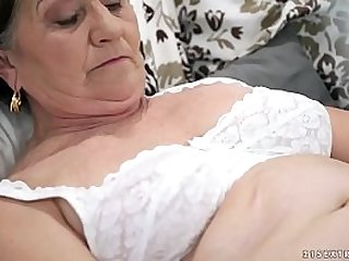 Old hairy pussy with young cock