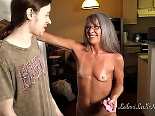 Milf Shares Panty Fetish with Young Man